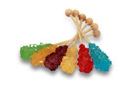 cristalli zucchero in stick arcobaleno